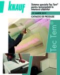 Knauf Catalog Sisteme speciale Tec Tem pentru termoizolatii la interior produse si preturi Martie 2019